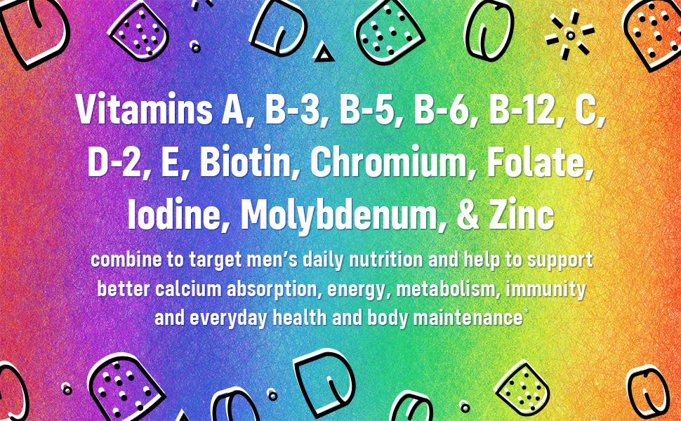 vitamin a vitamin b vitamin b5 vitamin b6 vitamin b12 vitamin c vitamin d2 vitamin e for men biotin