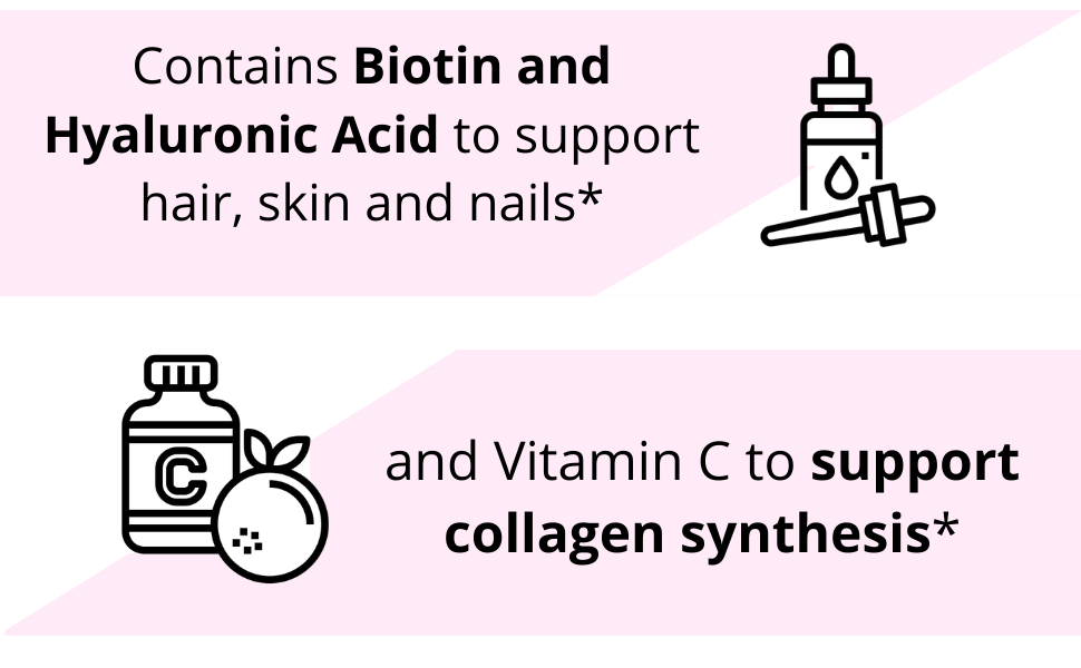 Multi Collagen Peptide Powder with biotin, hyaluronic acid and vitamin C