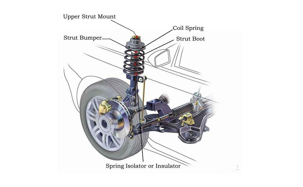 Front Driver Left Suspension Strut Assy FCS For Nissan Sentra Base SL SR 07-12