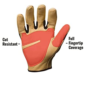 Full fingertip coverage that meets ANSI/ISEA cut level 2 for protection
