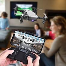 Flashandfocus.com 8d5a3a0f-ae79-49b7-bf35-acb297c08e2d.__CR0,0,300,300_PT0_SX220_V1___ SIMREX X300C Mini Drone RC Quadcopter Foldable Altitude Hold Headless RTF 360 Degree FPV Video WiFi 720P HD Camera 6…