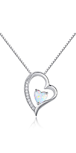 necklace for women,opal necklace ,heart necklace ,girls necklace