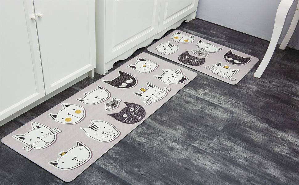 kitchen comfort rugs set