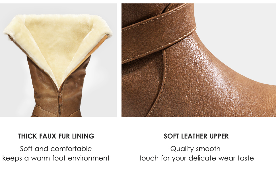 thick faux fur lining