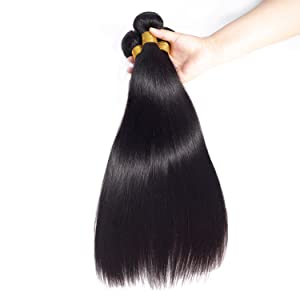 straight hair bundles virgin Brazilian human hair