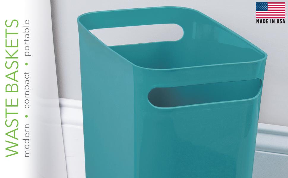 Waste baskets modern compact portable trash can garbage bin rubbish
