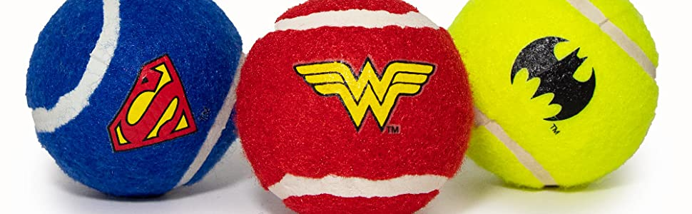 DC Comics Tennis Balls for Dog Toys by Buckle-Down