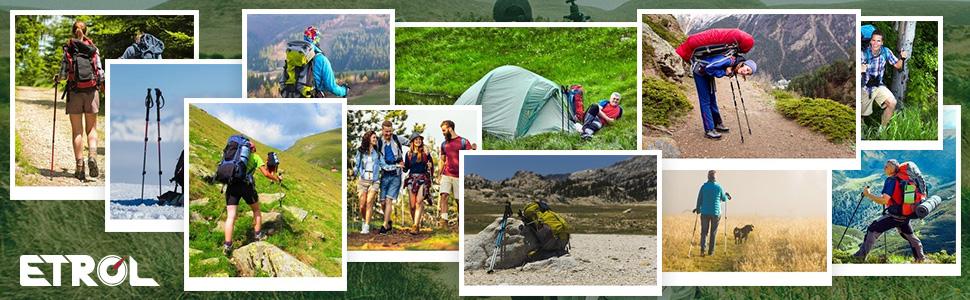 hiking ,camping,trekking