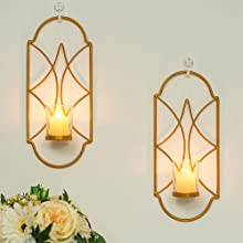 gold candle sconces with glass candle cup