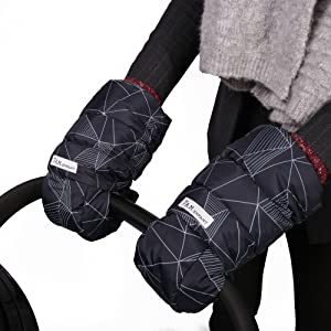 Pram and Stroller 7AM Enfant Stroller Hand Warmers Cold Weather Warmmuffs with Anti- Freeze Water Repellent Warm Hand Gloves for Pushchair