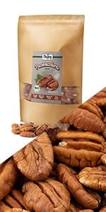 pekan pekannoten pitten noten rauw niet gebakken geroosterd walnoten Amerikaanse walnoot gluten vrij