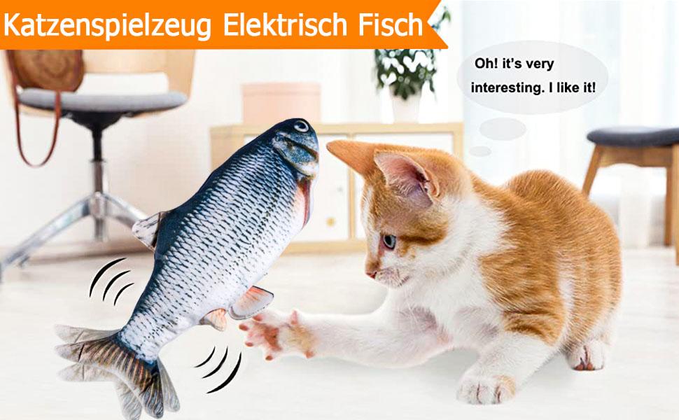 Katzenspielzeug Elektrisch Fisch