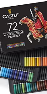 watercolor pencils Castle Arts Art Supplies