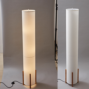 with 3 LED Bulbs Soft Light LED Torchiere Bamboo Lamps White Modern Bright Standing Light for Bedroom Office Floor Lamp AMUMO Tall Lamp for Living Room 61 Inches