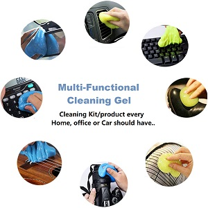 home office printer desk tv remote calculator fan dust cleaning slime gel jelly putty
