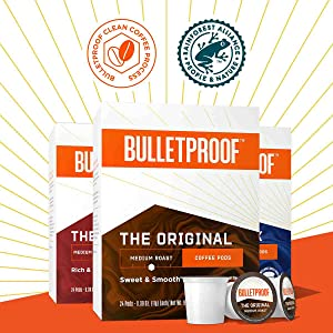 bulletproof pods k-cups single serve origin premium coffee pods