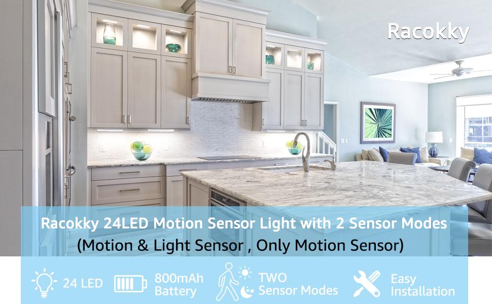 Акумулаторна лампа за сензор за движение