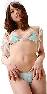 LinvMe Women's Micro Bikini Halter Extreme Mini Tiny Sheer Swimsuit