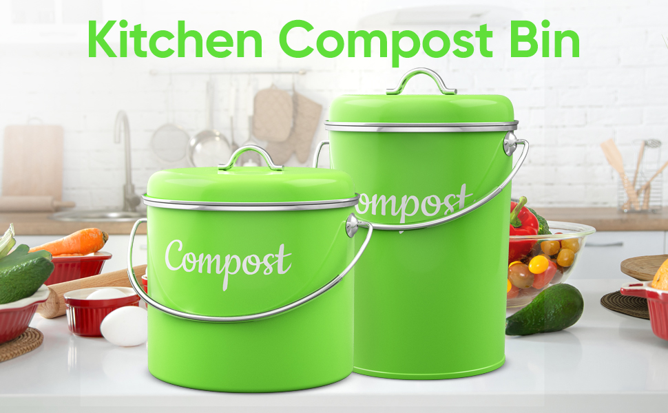countertop compost bin with lid