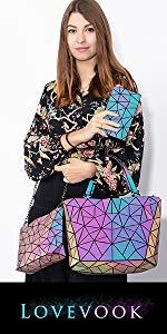 geometric luminous purses