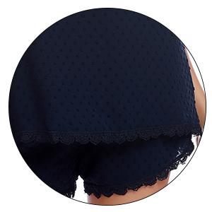 Pyjama Damen Schlafanzug Kurz Satin Sexy Nachtwäsche Zweiteiliger Ärmellose Nachthemd Spitze