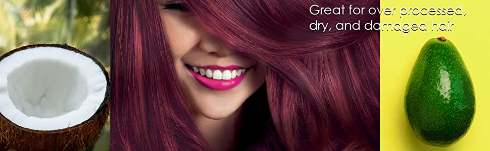 موقد نباتية جوز الهند قناع الشعر الأفوكادو الطبيعية المعتمدة مكيف العضوية التالفة الجافة الملونة