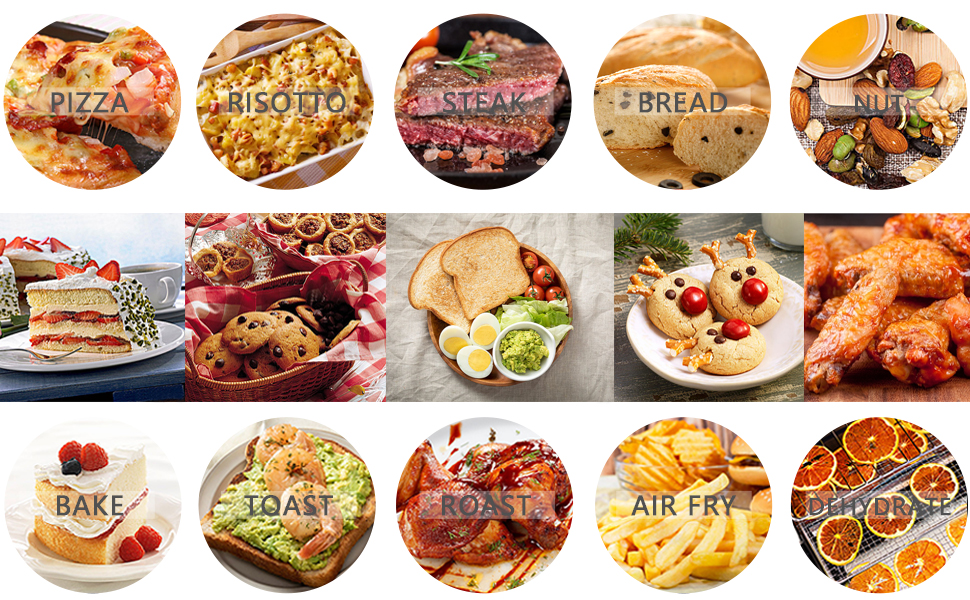 Air Fryer Toaster Rotisserie Air Fryer Oven Convection Oven Countertop Toast/Bake/Broil/Dehydrate