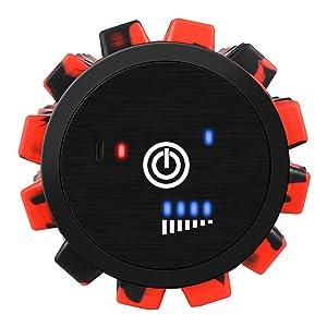 cotsoco Elektrische Schaumstoffrolle Massagerolle 30cm Elektrischer Vibrationsschaumroller 4-Gang-Tiefenmassageger/ät mit hoher Intensit/ät
