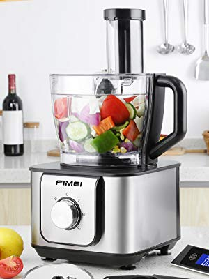 FIMEI Procesador de Alimentos 1100W, Robot de Cocina, Diseño Compacto 11 en 1, Recipiente 3.2L+1.5L, 3 Unidades de Motor, Licuadora, Picadora, Multi Mezclador con Cuchilla para Masa: Amazon.es: Hogar