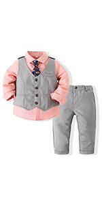 Baby Boy Clothes Outfit Suit Long Sleeve Gentleman Tuxedo Vest Wedding Birthday Party   Suit