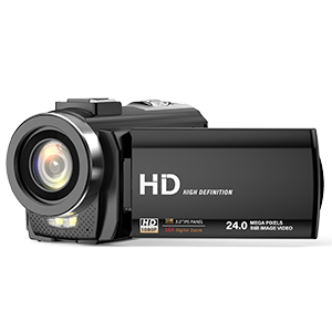 Control Remoto FamBrow Videoc/ámara FHD 1080P 24MP 30FPS C/ámara de Video Youtube Vlogging con Zoom Digital 16X 3.0 Pulgadas LCD Rotaci/ón 270/° Webc/ámara con 2 Bater/ías