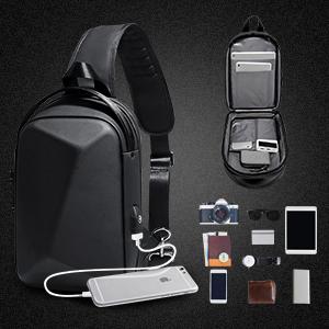 Anti-Theft Sling Chest Bag, Waterproof Crossbody Shoulder Bag Backpack Travel Casual Daypack