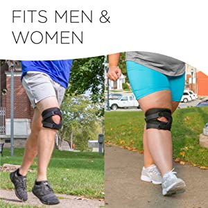 dislocated knee brace fits men and women