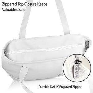 zippered top closure