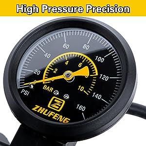 Bicycle Floor Pump with Pressure Gauge