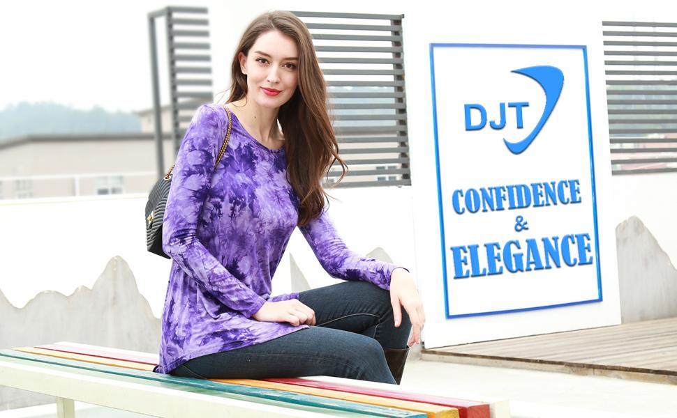 tie dye tunic tops for women