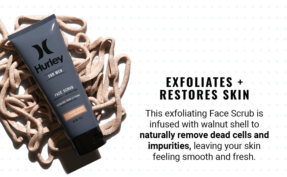 This exfoliating Face Scrub infused with walnut shell to naturally remove dead cells and impurities