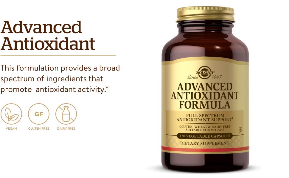 Full Spectrum Antioxidant Support - Contains Zinc, Vitamin C, E & A