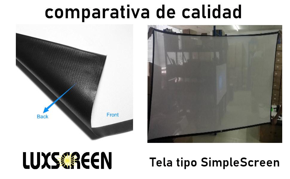 tela de proyeccion luxscreen, pantalla para proyector, pantalla de proyeccion manual, pantalla motor