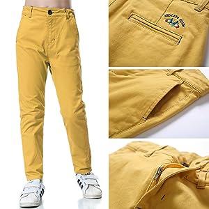 Boys Chino Pants,Adjustable Waist Pants Boys 4-12 Years,6 Colors to Choose,Best Family Dinner KID1234 Boys Pants