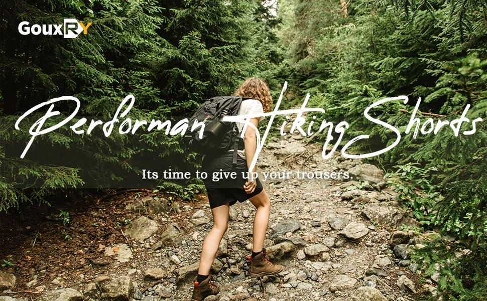 hiking shorts women 7 inch pockets