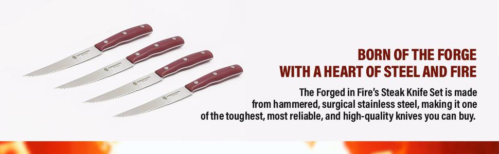 forged in fire steak knife set