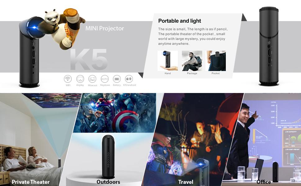 wzatco k5 mini pocket projector