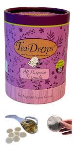 TeaDrops Liquid Indoor Houseplant All Purpose Organic Plant Food Fertilizer Worm Casting Tea Packets