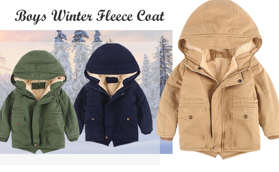 boys winter fleece coat
