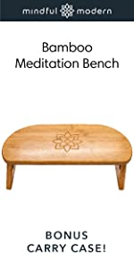 Folding Bamboo Meditation Bench