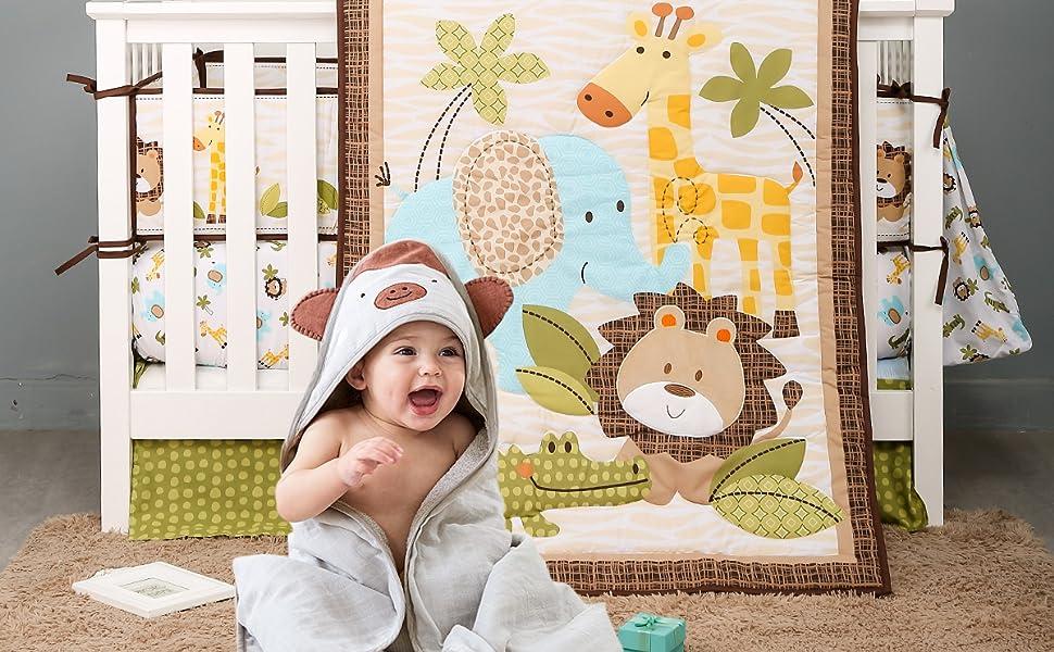 jungle baby bedding sets safari themed