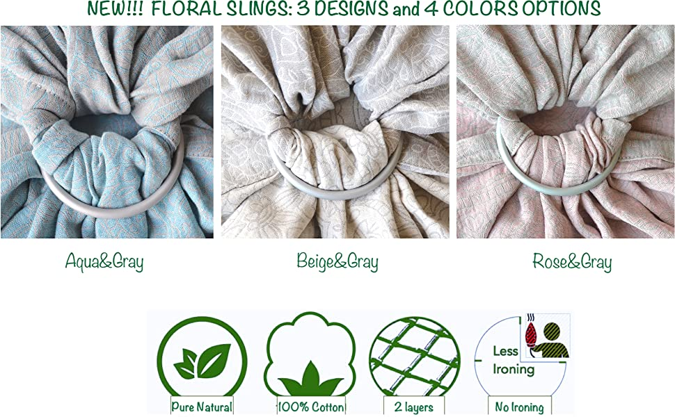 Floral Design Baby Ring Sling