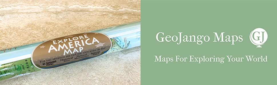 geojango maps united states map poster with national parks