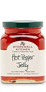 Stonewall Kitchen Hot Pepper Jelly Appetizer Spread Snack